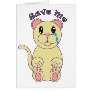 Save Me (Florida Panther) Card