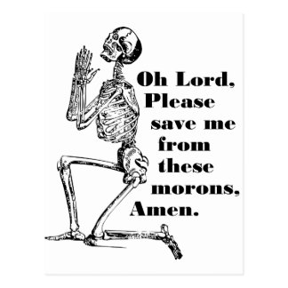 Save Me From Morons Postcard