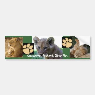 Save Me - Lion Cub Car Bumper Sticker