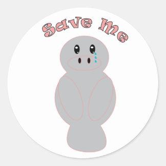 Save Me Manatee Sticker