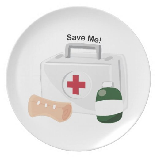 Save Me Party Plate