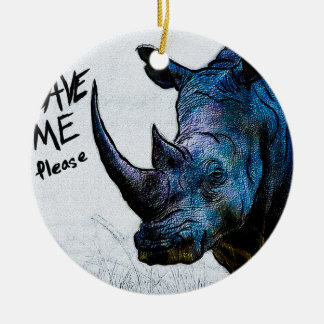 Save Me Please Double-Sided Ceramic Round Christmas Ornament