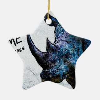 Save Me Please Double-Sided Star Ceramic Christmas Ornament