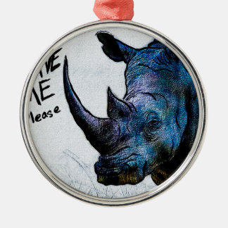 Save Me Please Round Metal Christmas Ornament
