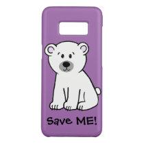Save Me!, polar bear cub Case-Mate Samsung Galaxy S8 Case