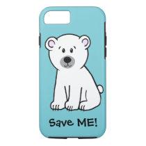 Save Me!, polar bear cub iPhone 8/7 Case