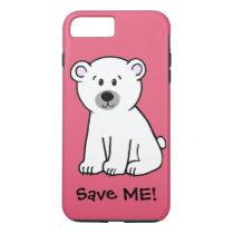 Save Me!, polar bear cub iPhone 8 Plus/7 Plus Case