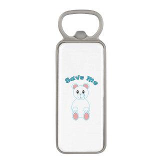 Save Me (Polar Bear) Magnetic Bottle Opener