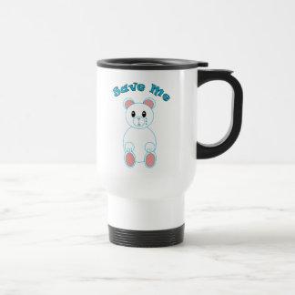 Save Me Polar Bear Mug