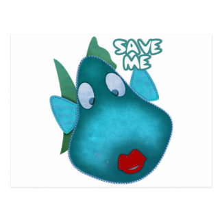Save me SAVE THE WHALES Postcard