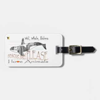 Save me the whale tag for bags