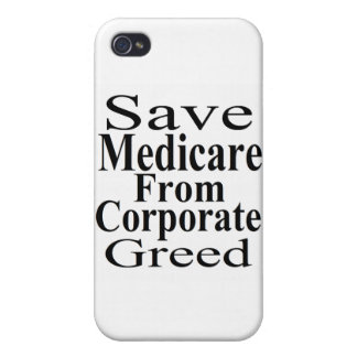 Save Medicare From Corporate Greed iPhone 4/4S Covers