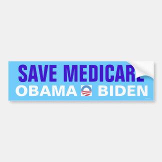 Save Medicare Obama Biden Bumper Sticker
