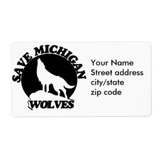 Save Michigan Wolves Label
