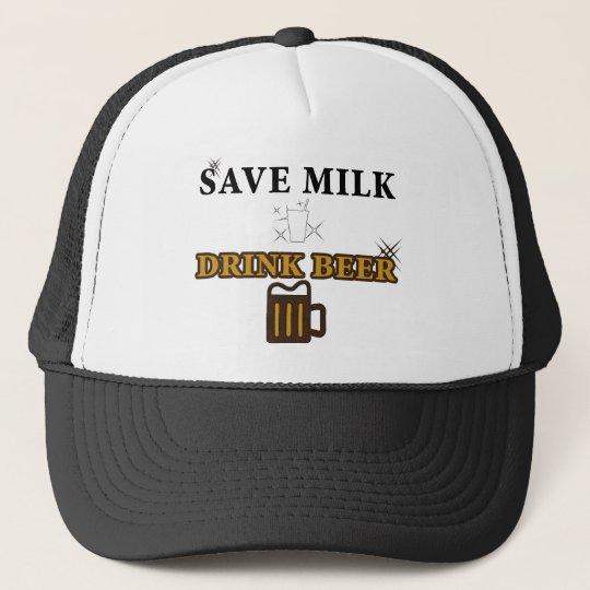 Save Milk Drink Beer Trucker Hat