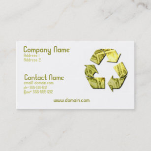 Recycle symbol business cards zazzle save money recycle business card colourmoves