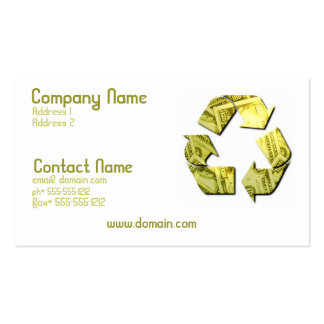 Save Money Recycle Business Card