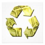 Save Money Recycle Invitation