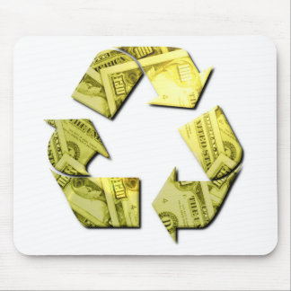 Save Money Recycle Mouse Pad