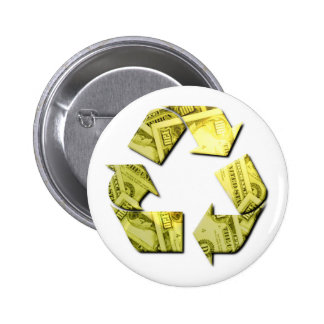 Save Money Recycle Round Button