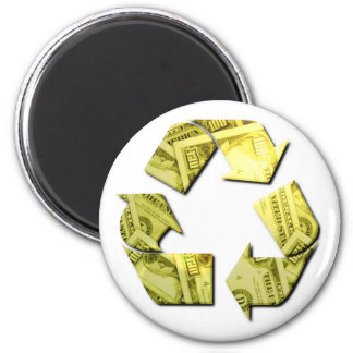 Save Money Recycle Round Magnet Refrigerator Magnet