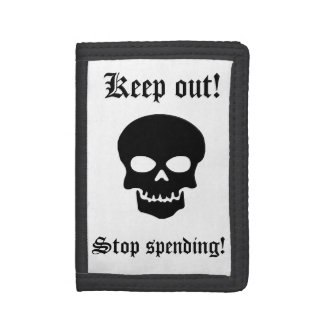 Save Money Skull Trifold Wallet