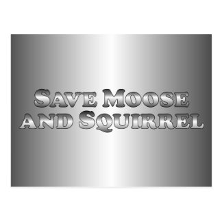 Save Moose and Squirrel - Basic Postcard