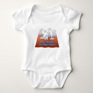 Save Moose and Squirrel - Dark Baby Bodysuit