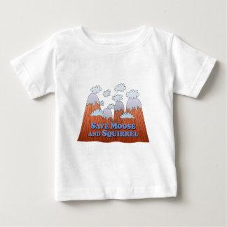 Save Moose and Squirrel - Dark Baby T-Shirt