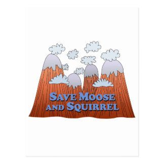 Save Moose and Squirrel - Dark Postcard