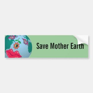 Save Mother Earth  Sticker Car Bumper Sticker
