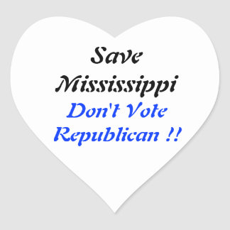 Save MS Heart Blue Heart Sticker