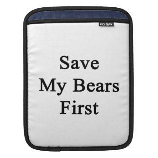 Save My Bears First Sleeve For iPads