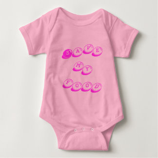Save my food breast cancer research baby shirt