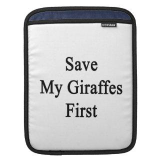 Save My Giraffes First iPad Sleeve