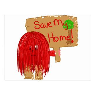 save my home postcard