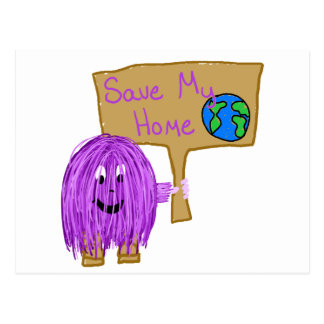 save my home! postcard