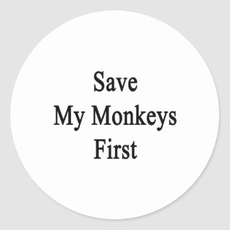 Save My Monkeys First Classic Round Sticker