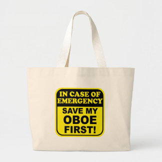 Save My Oboe Large Tote Bag