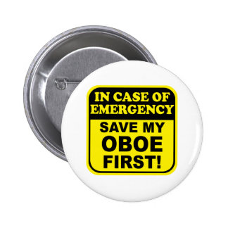 Save My Oboe Pinback Button