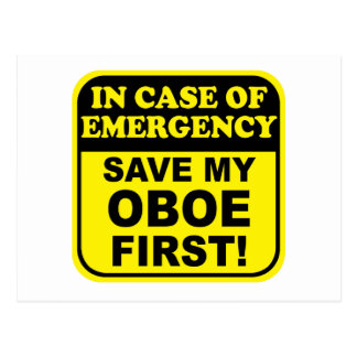 Save My Oboe Postcard