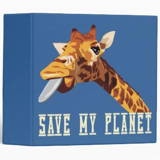 Save My Planet Giraffe 3 Ring Binder