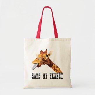 Save My Planet Giraffe bag