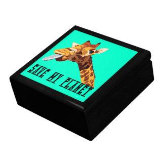 Save My Planet Giraffe Keepsake Boxes