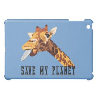 Save My Planet Giraffe iPad Mini Case
