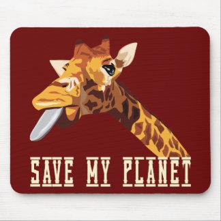 Save My Planet Giraffe Mousepad