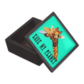 Save My Planet Giraffe Premium Jewelry Box