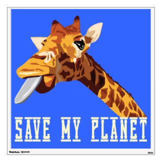 Save My Planet Giraffe Room Decal