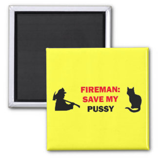 Save My Pussy Cat 2 Inch Square Magnet