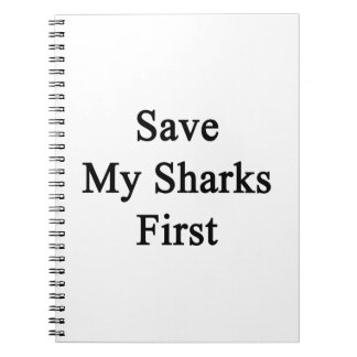 Save My Sharks First Note Books